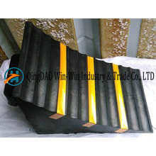 Rubber Wheel Chock 285*160*186 mm with Strip